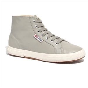 Superga for Madewell Gray High-Top Sneakers 6.5